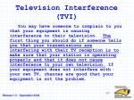 television interference tvi