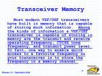 transceiver memory