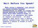 wait before you speak
