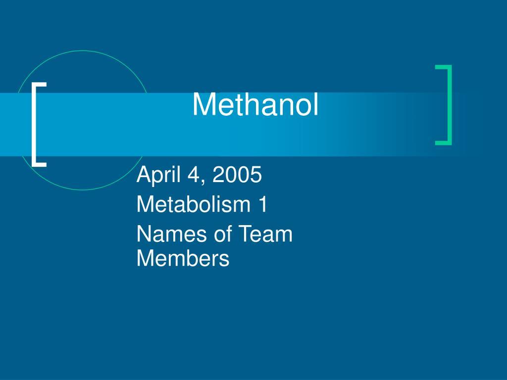 methanol l.