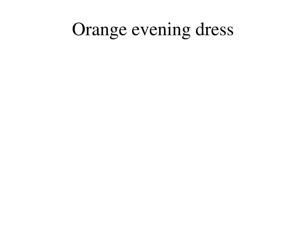 orange evening dress l.