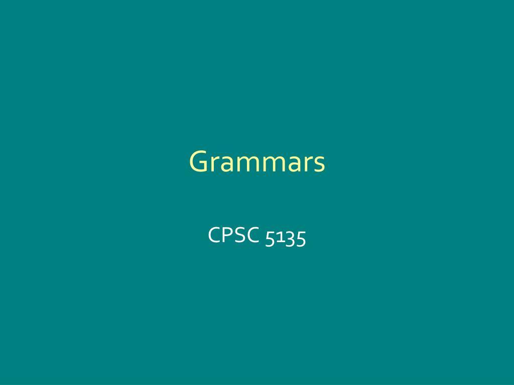 grammars l.