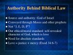 authority behind biblical law