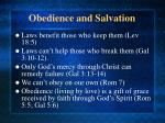 obedience and salvation
