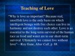 teaching of love9