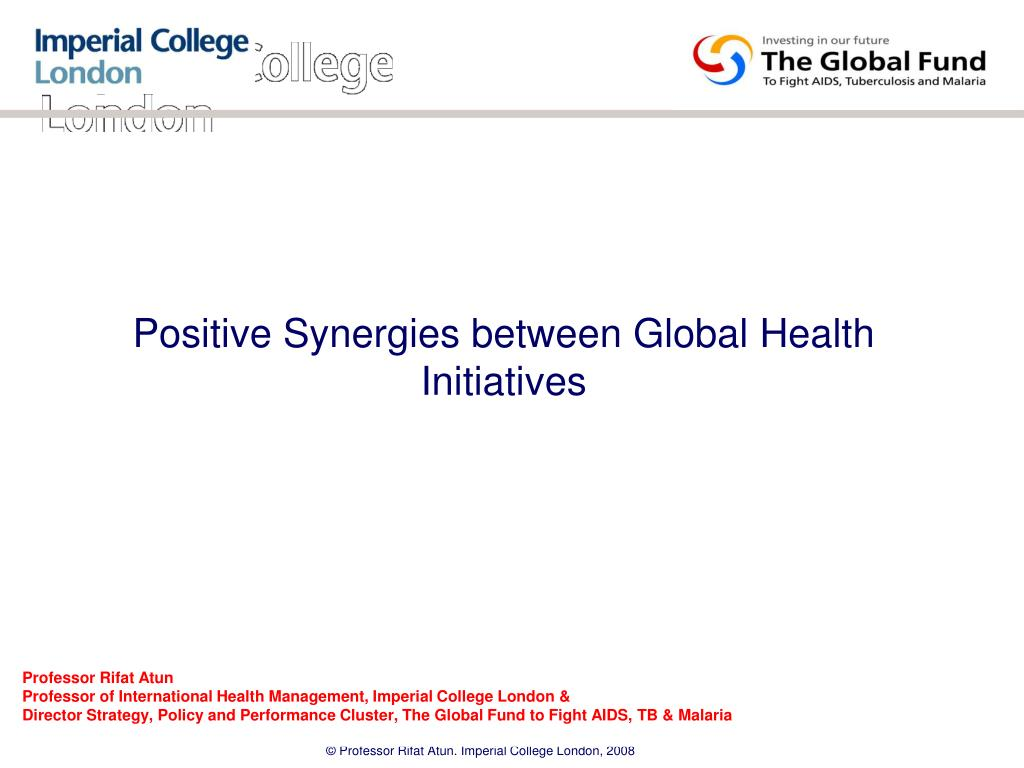positive synergies between global health initiatives l.
