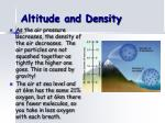 altitude and density