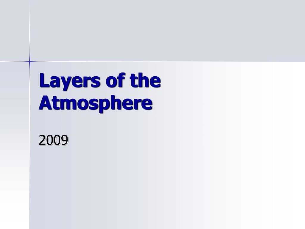 layers of the atmosphere l.