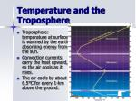 temperature and the troposphere