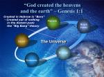 god created the heavens and the earth genesis 1 1
