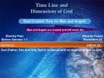 time line and dimensions of god