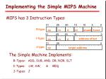 implementing the simple mips machine