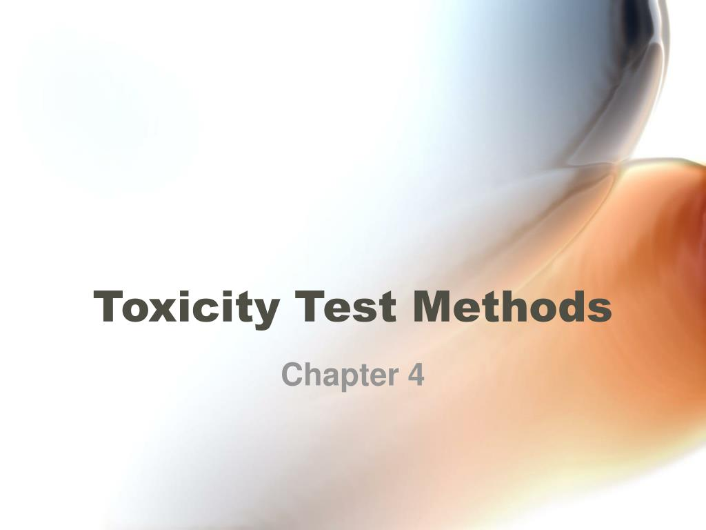 toxicity test methods l.