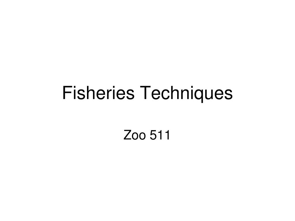 fisheries techniques l.