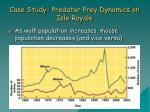 case study predator prey dynamics on isle royale