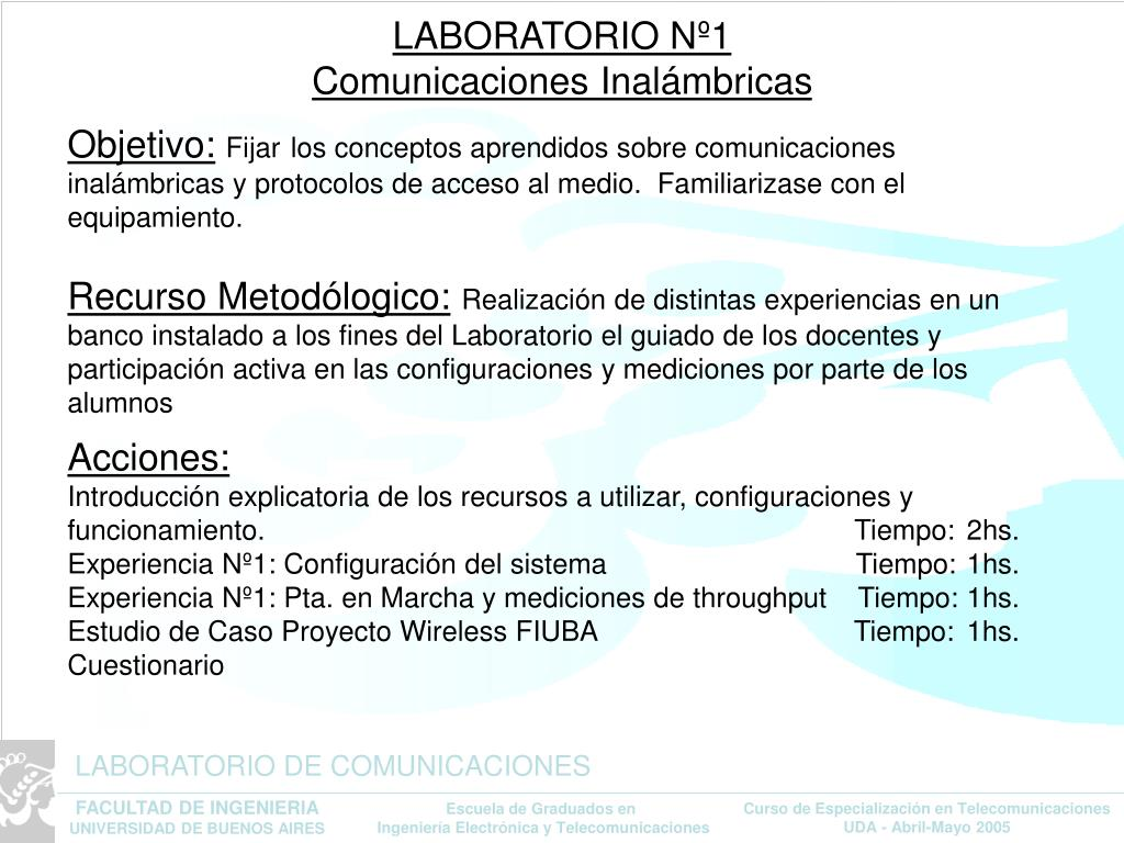 laboratorio n 1 comunicaciones inal mbricas l.
