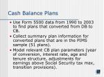 cash balance plans