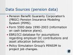 data sources pension data