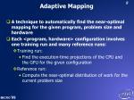 adaptive mapping