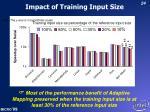 impact of training input size