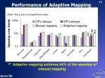 performance of adaptive mapping
