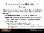psychrometrics definition of terms