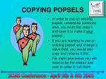 copying popsels