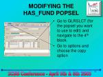 modifying the has fund popsel