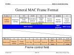 general mac frame format