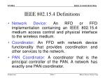 ieee 802 15 4 definitions