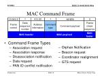 mac command frame