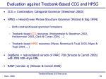 evaluation against treebank based ccg and hpsg
