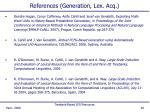 references generation lex acq