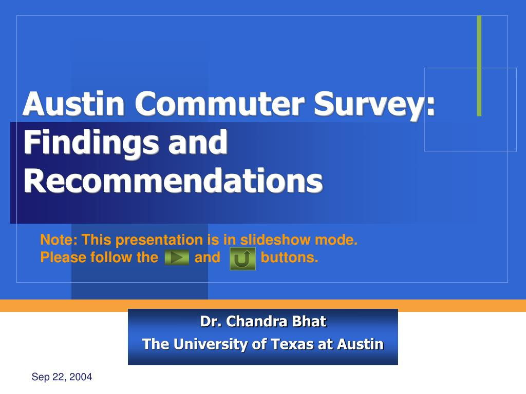 dr chandra bhat the university of texas at austin l.