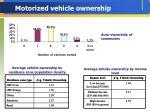 motorized vehicle ownership