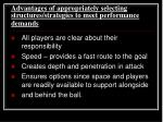 advantages of appropriately selecting structures strategies to meet performance demands