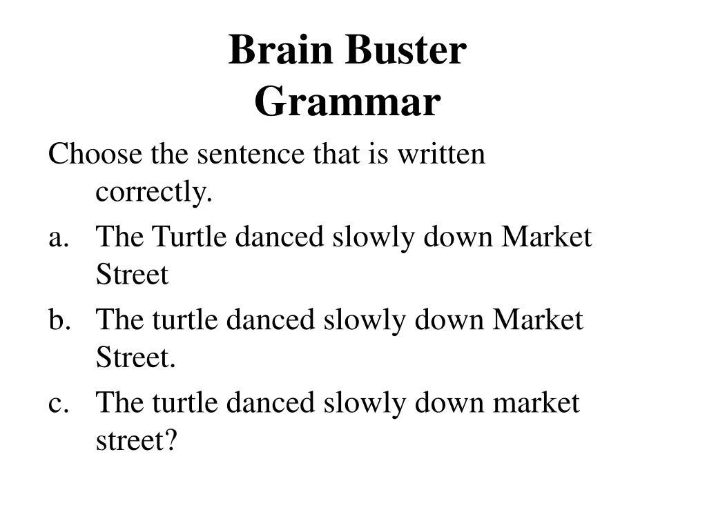brain buster grammar l.