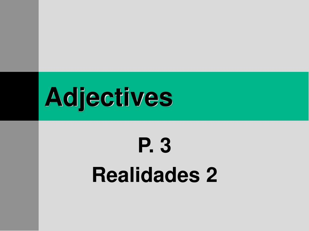 adjectives l.
