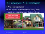 dui offenders 51 recidivism