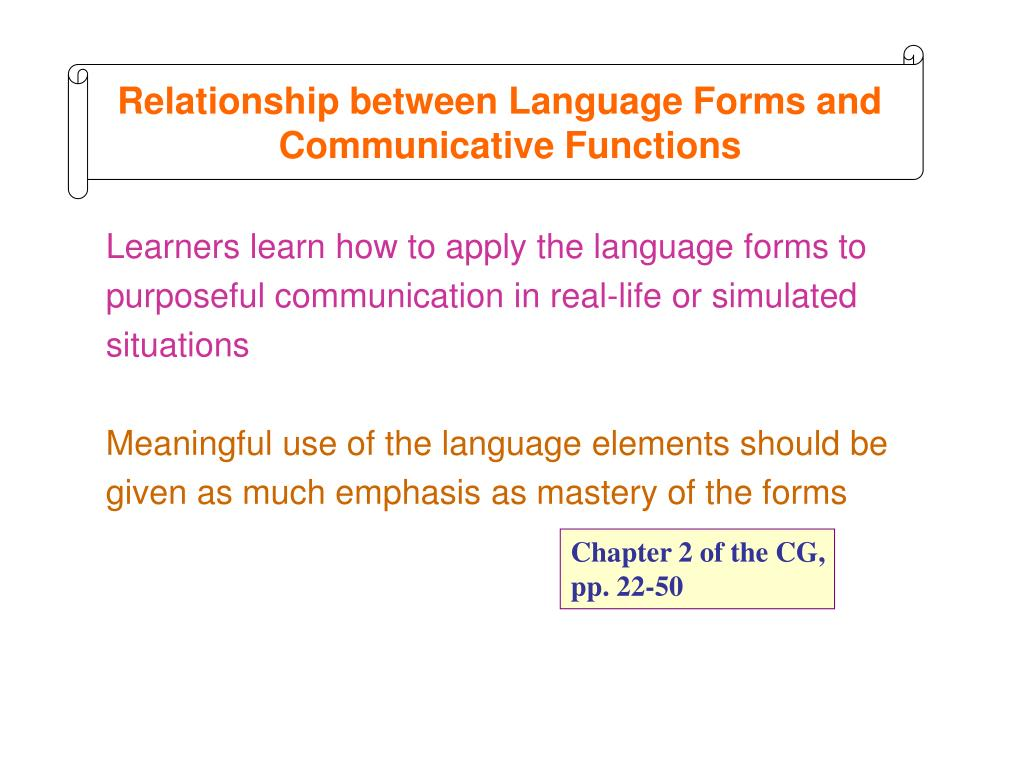 Relationship between Language Forms and