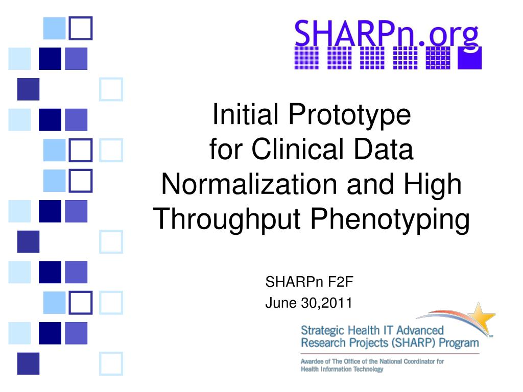 initial prototype for clinical data normalization and high throughput phenotyping l.