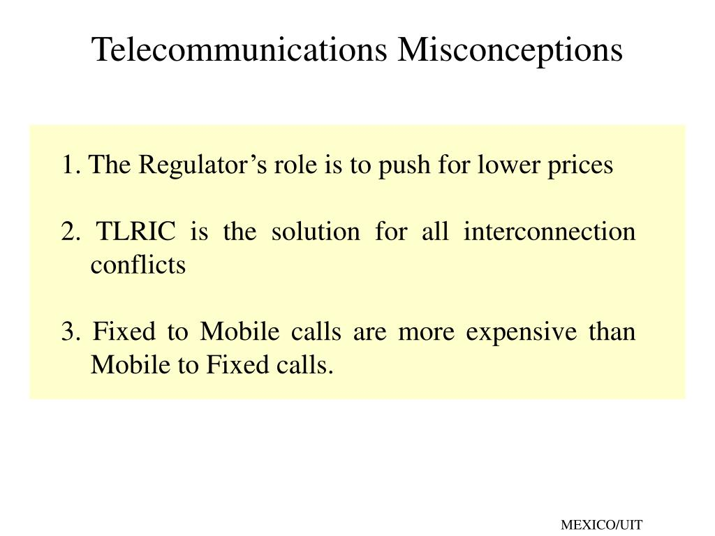 telecommunications misconceptions l.