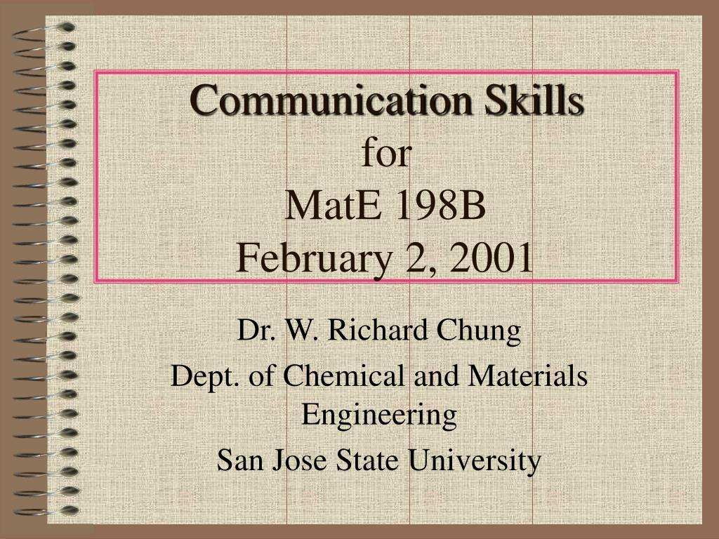 communication skills for mate 198b february 2 2001 l.