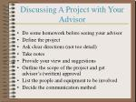 discussing a project with your advisor