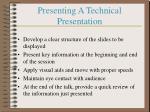 presenting a technical presentation