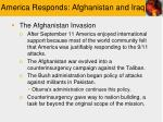 america responds afghanistan and iraq
