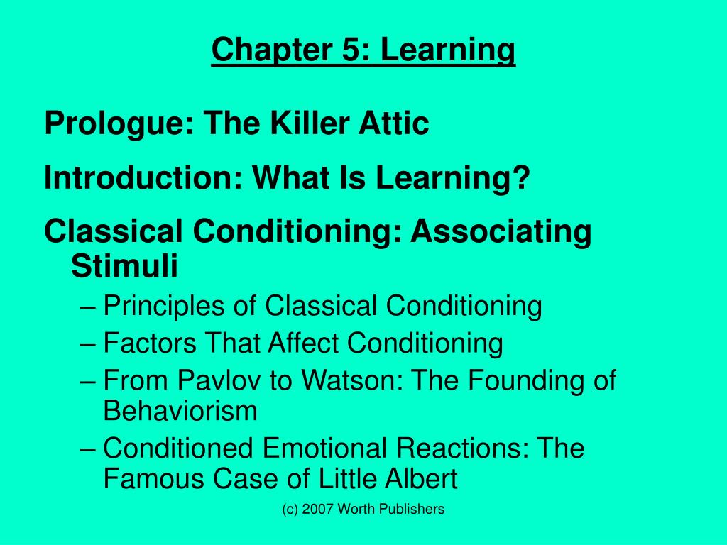 psychology essay on classical conditioning Home → sparknotes → psychology study guides → learning and conditioning classical conditioning.