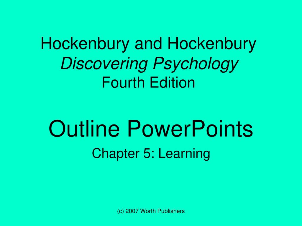 hockenbury and hockenbury discovering psychology fourth edition l.