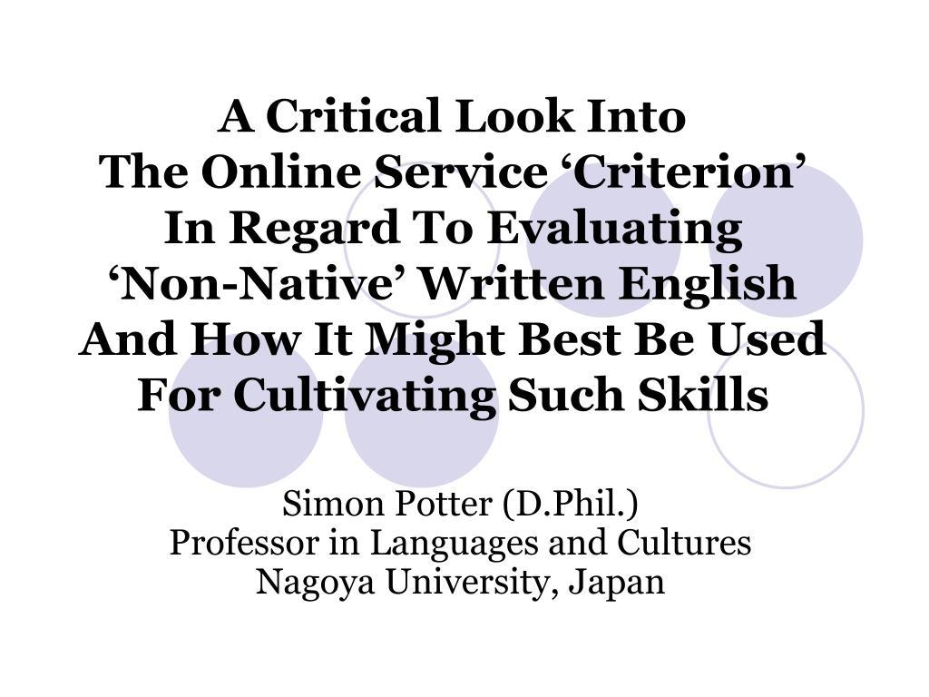 simon potter d phil professor in languages and cultures nagoya university japan l.