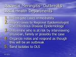bacterial meningitis outbreaks local health departments